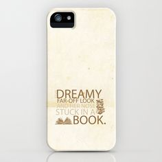 beauty and the beast... with her nose stuck in a book quote iPhone & iPod Case by studiomarshallarts - $35.00