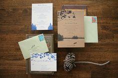 Lake wedding invite