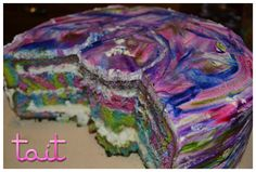 #Cake #Tortas #Colores #RainbowCake #CrazyCake