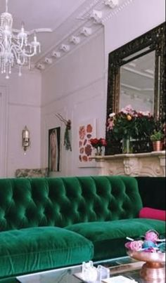Velvet Petite Lyre Chesterfield Sofa, Hickory #anthroregistry