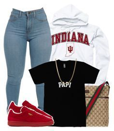 featuring polyvore, fashion, style, Puma, Gucci, women's clothing, women's fashion, women, female, woman, misses and juniors  |Lilshawtybad|