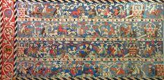DI 76 (Lüneburger Klöster) Kloster Wienhausen 1. H. 15. Jh.    Signatur: DI 76, Nr. 45    Jagd-Teppich I.1) Wollstickerei auf Leinen. Der 1937 restaurierte Teppich, der im Textilmuseum ausgestellt ist, ist bis auf den fehlenden rechten Rand vollständig erhalten. Er zeigt vier durch Schriftleisten voneinander getrennte Bildstreifen mit Darstellungen von Jagdszenen, wobei jeweils ein Bildstreifen die Hirschjagd, die Einhorn- und Hasenjagd, die Löwenjagd und die Fuchsjagd illustriert. Auf der…