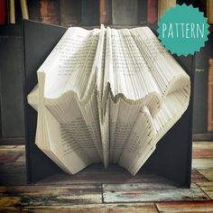 Folded Book Art Faith Strength Love Pattern & by BookOrigami