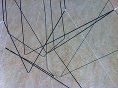 Draadstructuur van beeldend kunstenaar Willeke van Ravenhorst.