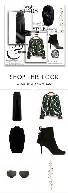 """""""Untitled #2"""" by micettes on Polyvore featuring moda, RED Valentino, McQ by Alexander McQueen, L'Autre Chose, Ray-Ban, Pier 1 Imports, black, Sailor e flare"""