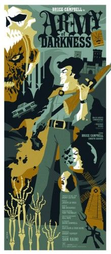 Tom Whalen's horror movies poster series