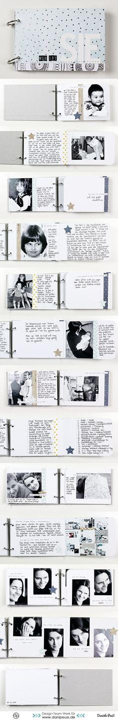 #mitmachMontag Journaling Tutorial inkl. Minialbum-Bau von Dani Peuß für www.danipeuss.de