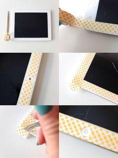 Easy Washi Tape iPad Makeover