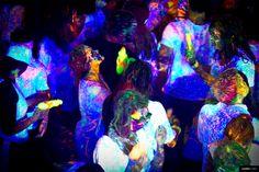 glow in the dark neon paint nerf gun fight