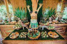 Sweet Table Details from a Safari Birthday Party via Kara's Party Ideas | KarasPartyIdeas.com (7)