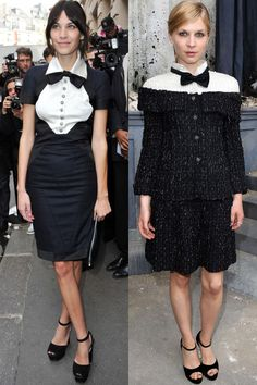The twins: Alexa Chung and Clemence Poesy The tell-tales:A penchant for Chanel,Parisian insoucianceand ankle-strap ballet flats