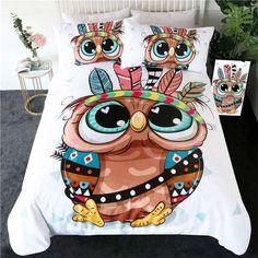 Cartoon Owl Bedding Set