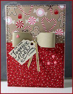Carte Scrap #743 - Stampin'up! - Joyeux Noël