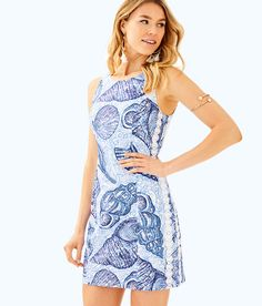524abc48042831 Mila Shift Dress, Blue Peri Pop Up Stuffed Shells, large Resort Wear For  Women