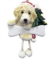 Labradoodle Christmas Ornaments ~ many styles (other dog breeds too) at http://www.doggiechecks.com/ornaments/Labradoodle.php
