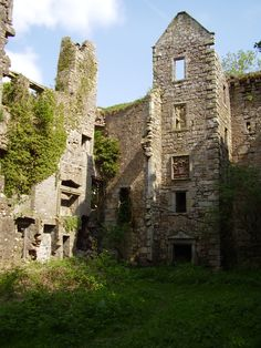 Old Dalquharran Castle, Scotland. The castle remained inhabited until the 1700's.
