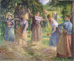 Hay Harvest at Éragny by Camille Pissarro 1901 - Camille Pissarro – Wikipedia