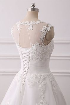 APXPF Women's Elegant Sheer Vintage Tea Length Lace Wedding Dress For Bride White US8 at Amazon Women's Clothing store: