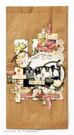 decorate paper bags with paper bits and add photo - gift bag waalaa!