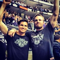 Robbie and Stephen Amell they must have good genes