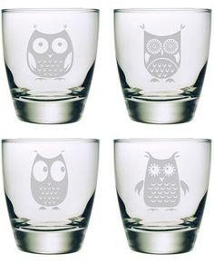 Hibou Rocks Glass (Set of 4)
