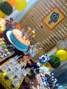 World Of Gumball, Darwin, Cartoon Network, Party, Amazing, Amazing World Of Gumball, Ideas Party, Cakes, Birthday Cakes