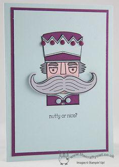 Nutty or Nice Nutcracker Christmas Card Santa Stache, Mustache Framelit, Joanne James, Stampin' Up! UK Independent Demonstrator, blog.thecraftyowl.co.uk