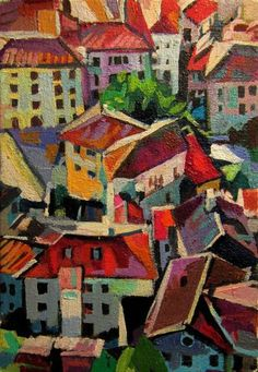 Red city roofs - Miniature  II