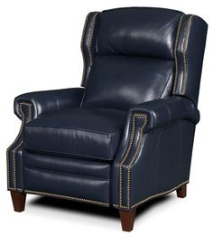 navy blue leather recliner chair - Google Search
