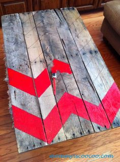 mommy is coo coo: Chevron Pallet Ornament Christmas Tree