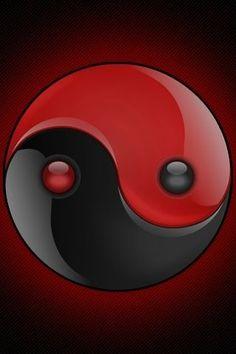 Black & Red Yin Yang Arte Yin Yang, Ying Y Yang, Yin Yang Art, Ying Yang Wallpaper, Yen Yang, Yin Yang Balance, Yin Yang Designs, Arte Ninja, Yin Yang Tattoos