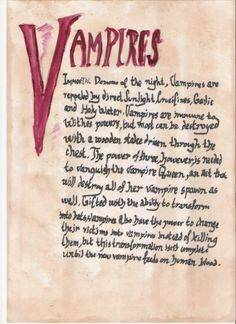 Printable Book Of Shadows Pages   Book of Shadows:Vampires by ~tyki-blood on deviantART