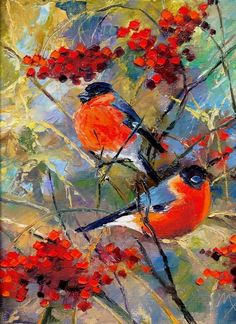 "Outstanding ""abstract art paintings diy"" information is available on our website. Check it out and you wont be sorry you did. Bird Painting Acrylic, Large Painting, Watercolor Paintings, Art Paintings, Winter Painting, Bird Art, Beautiful Paintings, Painting Inspiration, Lovers Art"