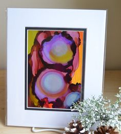 Original 5x7 Alcohol Ink Painting on Yupo Paper by KellieLynnArt, $50.00  #maineteam #cashmob #Mainegifts #Maine #Abstract #contemporary #art