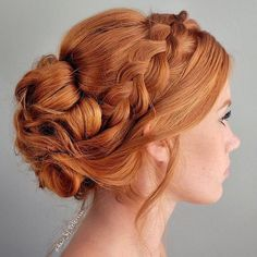 35 Braids Sure to Inspire Your Special-Occasion Styling 35 Braids Sure to Inspire Your Special-Occasion Styling,Braids 35 Braids to Stare at All Day - Hairstyling & Updos - Modern Salon Style Redhead Hairstyles, Box Braids Hairstyles, Wedding Hairstyles, Cool Hairstyles, Updos With Braids, Hairstyle Ideas, Hairstyles Pictures, Casual Hairstyles, Updo Hairstyle
