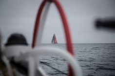 May 25, 2015. Leg 7 to Lisbon onboard MAPFRE. Day 08. Dongfeng sail alongside us after they gybe Francisco Vignale / MAPFRE / Volvo Ocean Race