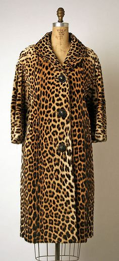 My mother owned a full length Leopard Fur Coat in the early 1950's!! Révillon Frères, 1950