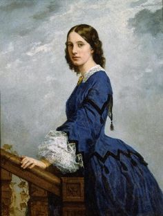 "Period Portraits: Mrs. Robert Shaw Sturgis, abt. 1862 Very similar to the ""jester"" blue bodice I've pinned further down."