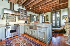Vintage kitchen in an 1840's Victorian townhome. Alexandria, VA.  http://www.estately.com/listings/info/526-queen-street--1