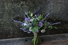 Purple Lavender Bridal Bouquet. http://forestandfieldcreative.com