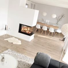 Un #salon #scandinave ! #blanc