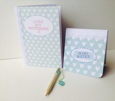 Notebook Set & Pencil,Set of Two Notebooks & Mini Pencil,Handmade Notebooks £3.70