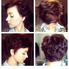 Long Pixie Haircut Curly