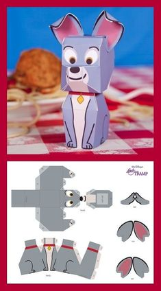 We're sure you'll want to add this papercraft to your pack today! Origami Paper Art, 3d Paper Crafts, Paper Toys, Paper Gifts, Fun Crafts, Origami Lamp, Paper Cards, Disney Diy, Disney Crafts