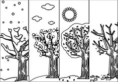 4 Seasons Coloring Page WeColoringPage 5