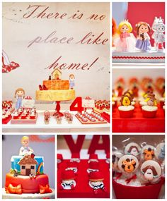 Fantastic Wizard of Oz party ideas! Amazing birthday cakes, cupcakes, and party decor! See the whole party here: http://catchmyparty.com/parties/wizard-of-oz-6