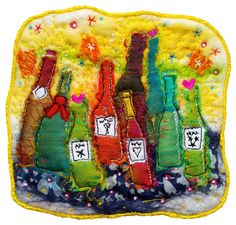 Wine_Bottles_Felted_And_Stitched