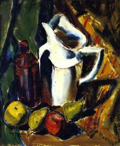 Still LIfe with White Pitcher (Alfred Henry Maurer - circa 1923)