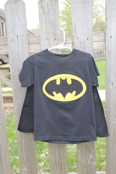Batman shirt and cape---to make boys for universal