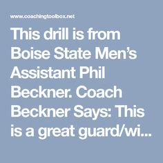 This drill is from Boise State Men's Assistant Phil Beckner. Coach Beckner Says: This is a great guard/wing attack drill that allows the player to work on catching and bouncing on the move. This drill is best with multiple players…Read more →